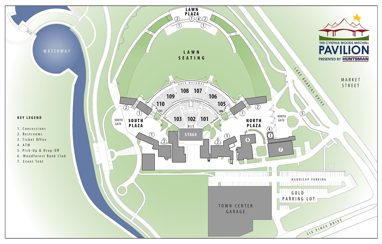 Pavilion Site Map