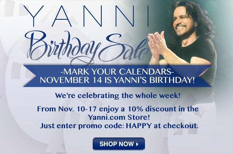 Yanni birthday sale!!