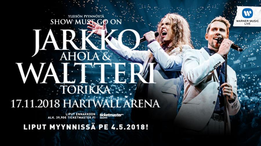 Jarkko Ahola ja Waltteri Torikka Hartwall Arenalla kuljetus + lippu 2