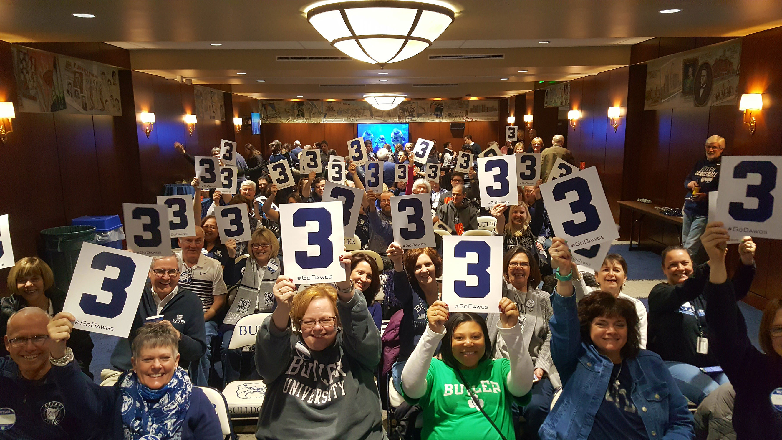 Butler Visits Georgetown MBB Fan Gathering