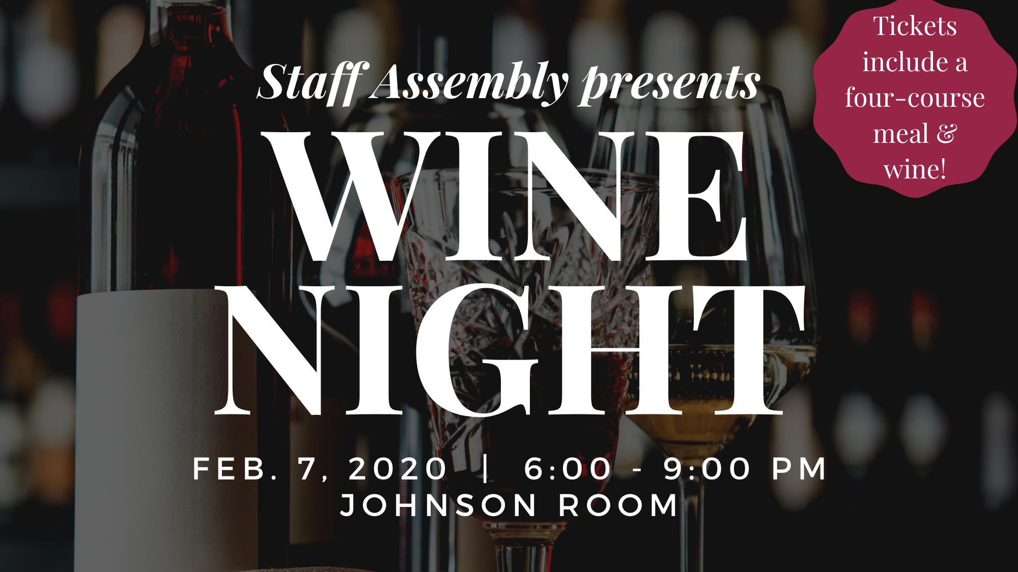 Staff Assembly Presents: Wine Night 2020