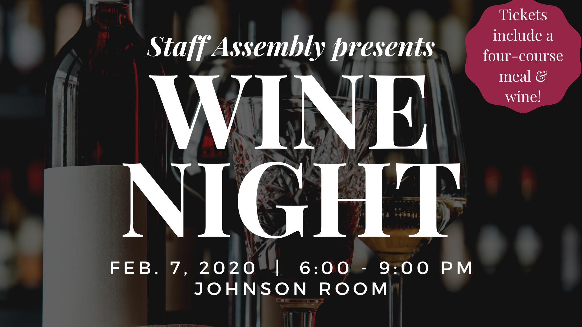 Staff Assembly Presents: Wine Night 2020