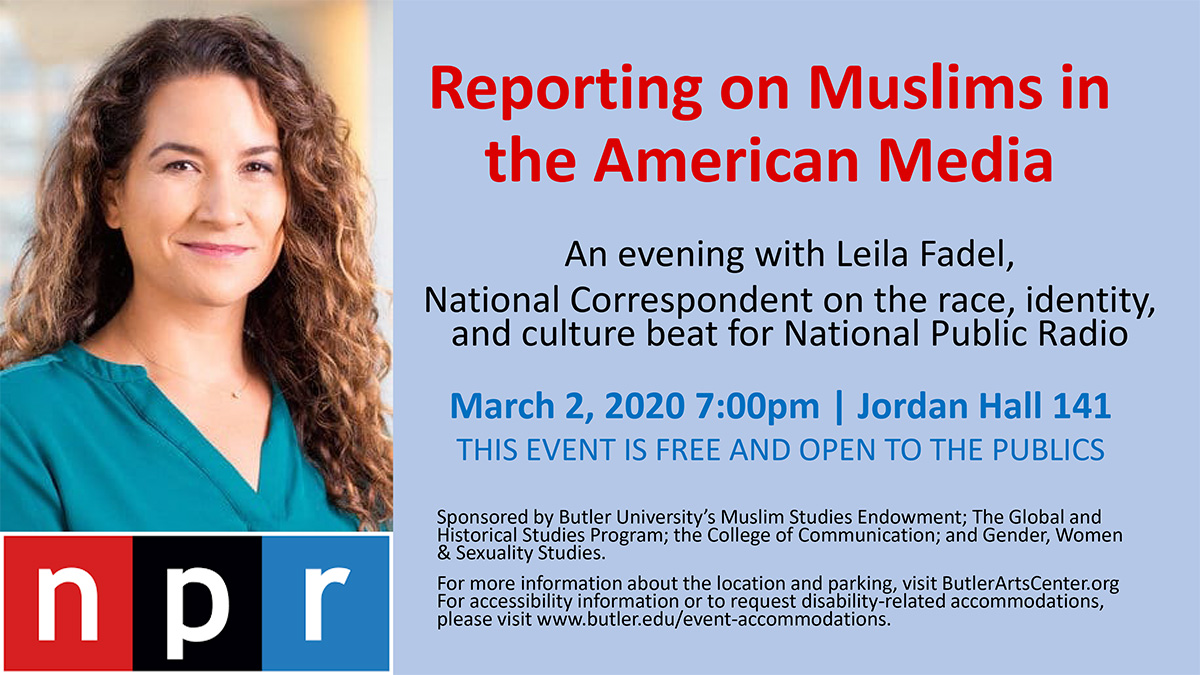An Evening with Leila Fadel, National Correspondent on the race, identity, and culture beat for National Public Radio