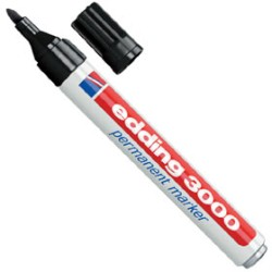 rot Permanent-Marker 300 2 x edding Rundspitze schwarz