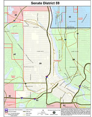 Senate District 59 Republicans Map