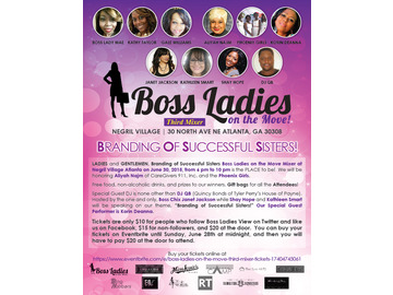 Wall_branding_of_successful_sisters_boss_ladies_on_the_move_mixer_flyer