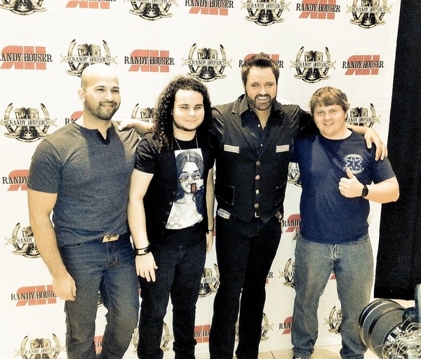 With bandmates and Randy Houser, West Palm Beach, FL