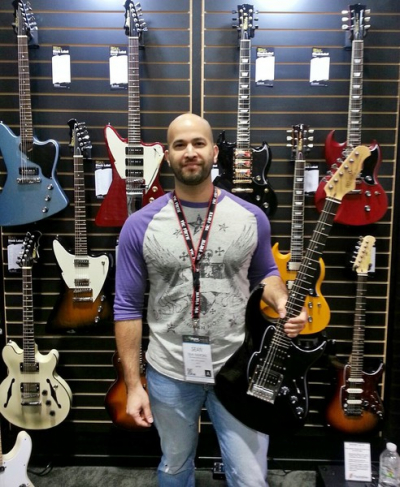Fret-King Guitars Exhibit, NAMM Show 2014, Anaheim, CA