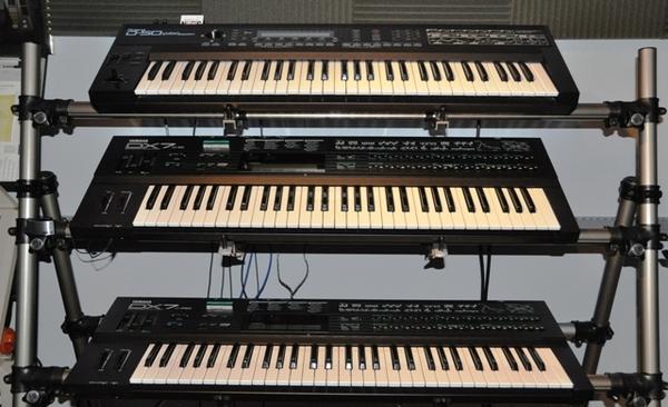 Roland D50 w/MEX, Yamaha DX7 IID, Yamaha DX7 FD (1988)