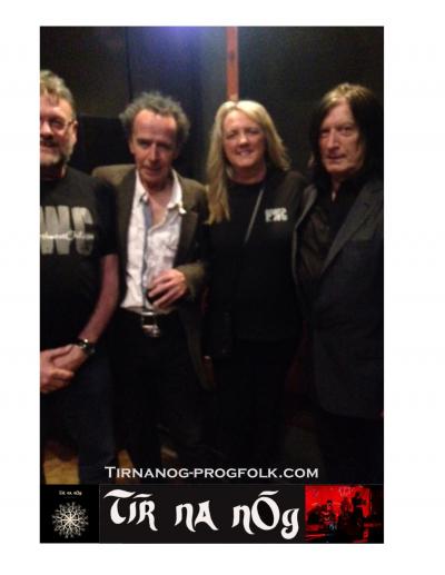 Stuart & Angela Sporting NWC Shirts with touring progressive folk band Tir na nOg! Henbdon Bridge, UK