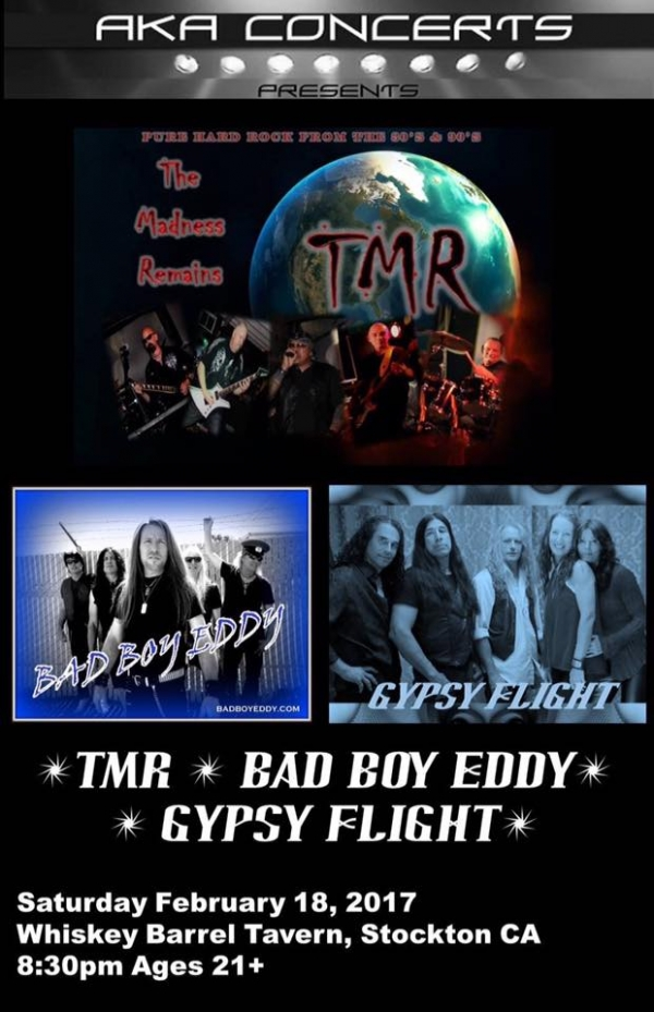 What a great night with yours truly TMR closing it out.  Gypsy Flight and Bad Boy Eddy are real deal Rockin Entertainers.  Thanks for the great night!
