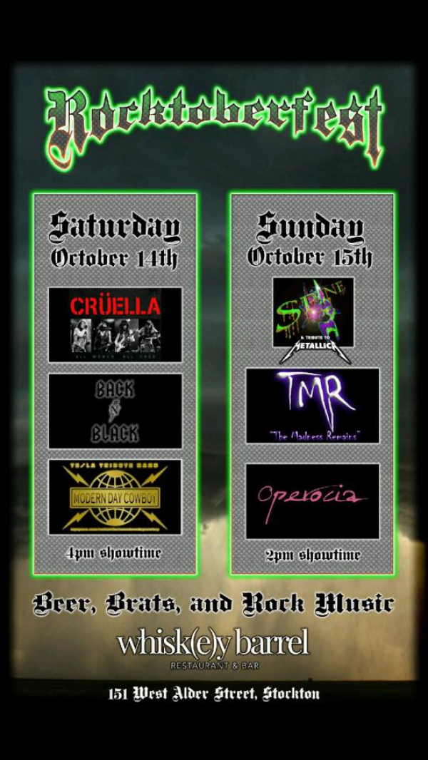 TMR headlines day 2 of Jerry Wolfe's Rocktoberfest at The Whiskey Barrel