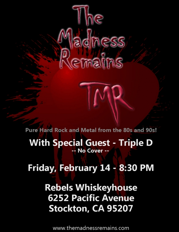 TMR with special guest Triple D unleashed at  Rebels!!!