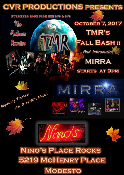 TRM at Ninios with special guest, MIRRA making their debut!