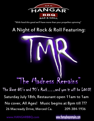 TMR!!!  The Hanger gets Rocked!!!