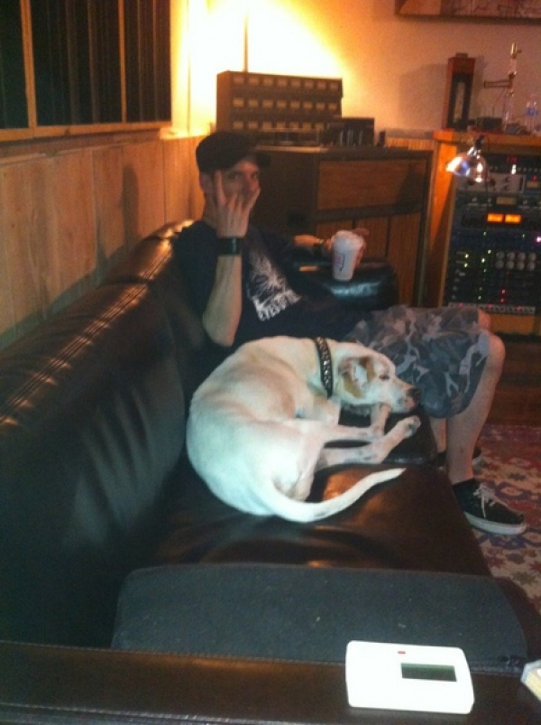 <p>Ron Boyle of Dual Dignosis and Hypnotik Infekted Bloodline spending time with us at Translator Audio</p>