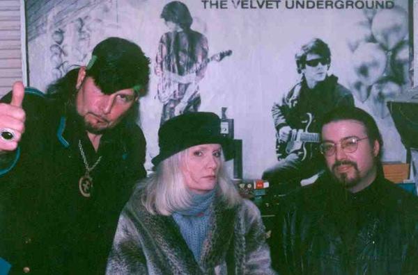 Von LMo, Jayne County and myself at Funhouse Studio '97