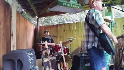 My brother Dan on drums at Smokeys down close to Houston