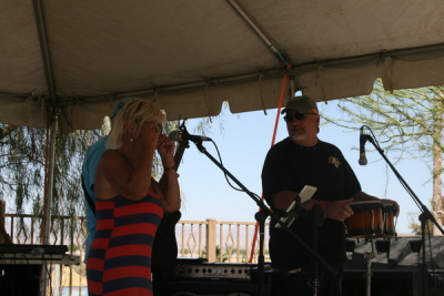 Susan and Mark playing with us at the pool Laughlin Nv