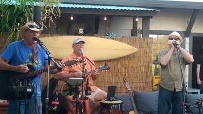 (Crimedog), Mark McCuffin, Danny Greed and I playing at SoCal Tacos in Mesa Az