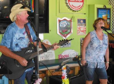 Gay and I at Capt' Jacks in Tarpon Springs Fl 4th of July 2016