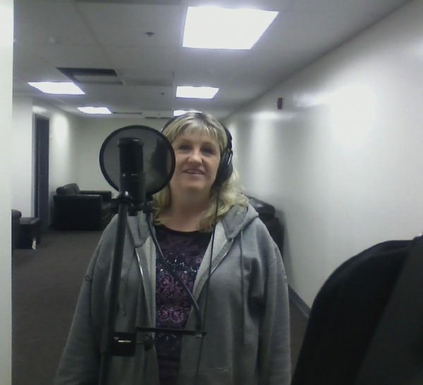Michele at basic track recording session