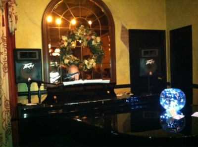 <p>Rick behind the baby grand...such a beautiful room!</p>