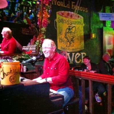 <p>Rick rockin' the house at Silky O'Sullivan's on Beale St. Memphis, TN</p>