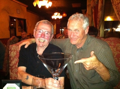 <p>Now that's a martini! Jack & Frank at Vittorio's...fill 'er up!</p>