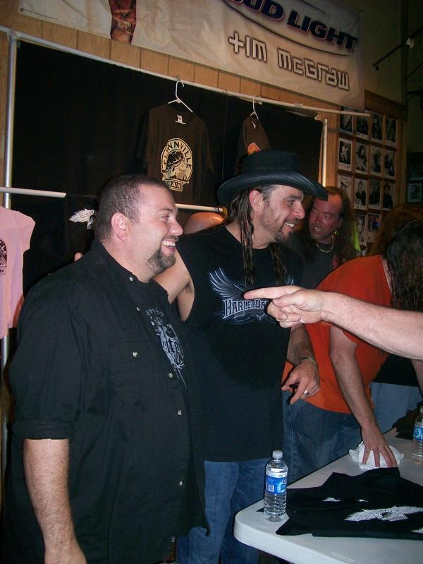 MJB opened for Confederate Railroad, Our merch booths were right next to each other, made for some clowning!