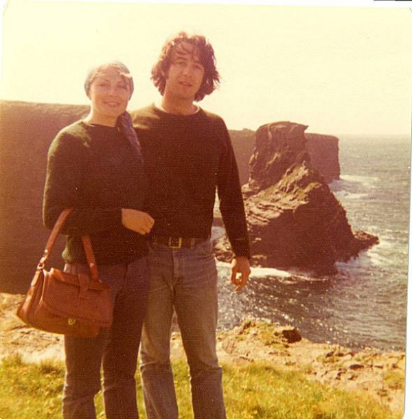 <p>&nbsp;July, 1974. On the cliffs in the Dingle Peninsula.</p>