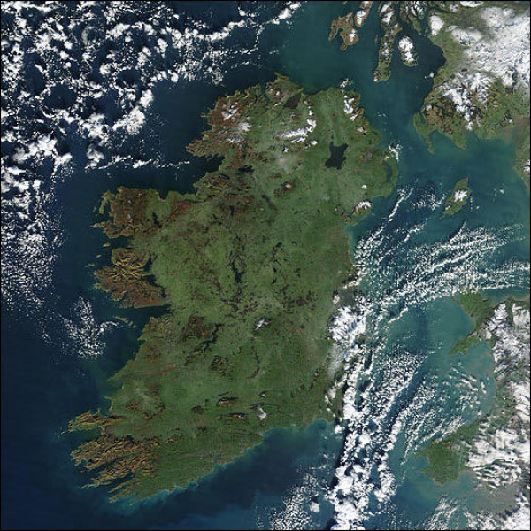 Ireland from space - satellite image