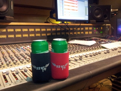 Keeping the Rolling Rock cold during recording