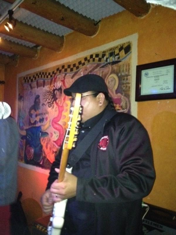 Playing at a jam at El Foral, in Santa Fe, NM. April 2, 2013