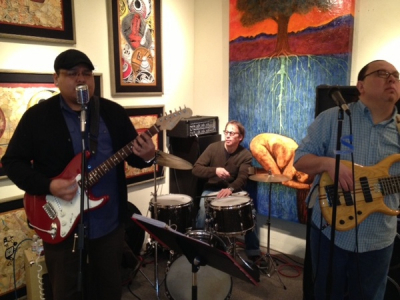 Little Bird at Loretto, gallery gig with Stanlie Kee, Britt Alexander, and David Lee Rodrigues