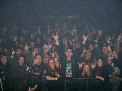 <p>Crazy metalheads at Gamma Ray show</p>