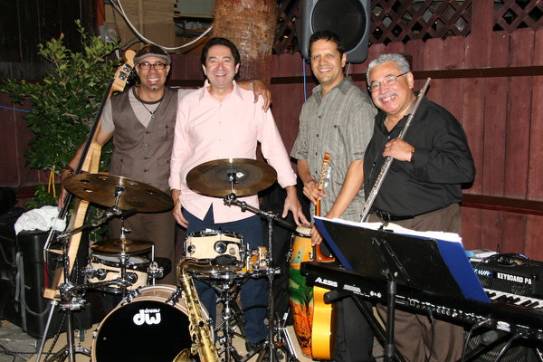 Oskar Cartaya, Richie Garcia, Mark, and Justo Almario. Photo by David Betances