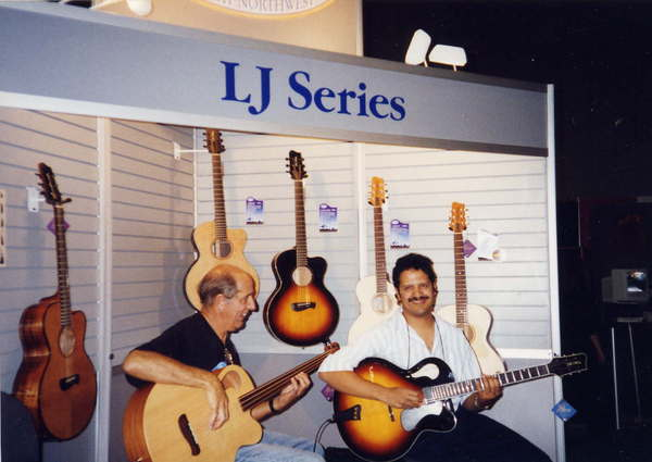 Jose Marino and Mark jamming at the NAMM show