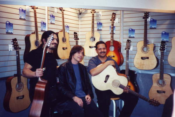 Marcos Loya, Jackson Browne, and Mark