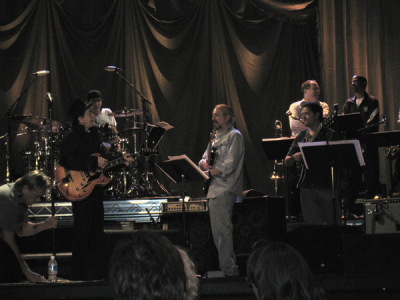 Rehearsing with Trini Lopez for taping of