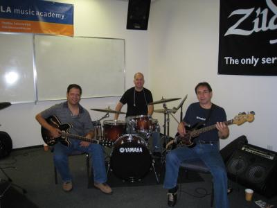 Mark, Aaron Serfaty, and Guillermo Guzman at LAMA