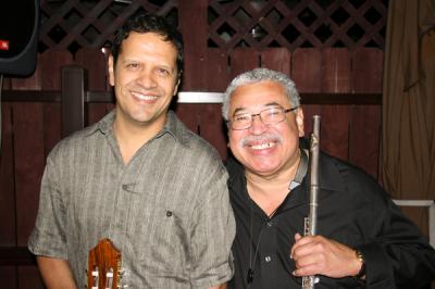 Mark and Justo Almario.  Photo by David Betances