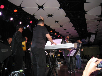 Performing with the Jerry Rivera band