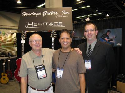 Mark with Jim Deurloo and Vince Margol of Heritage guitars NAMM