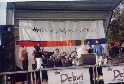 Performing with Joe Bataan