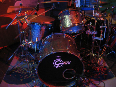 Ricks Silver Sparkle Gretsch Kit