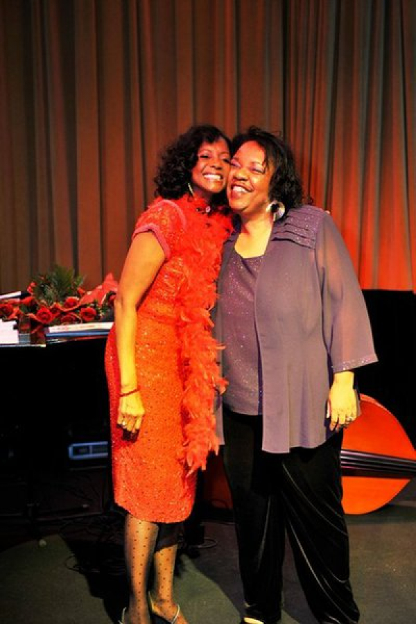 Lady Junn Performs with the stunning Actress and song bird, Margaret  Shug Avery at the 25th anniversary gala of The Color Purple. The  event was held at the fabulous Sambuca Jazz Cafe in Atlanta!
