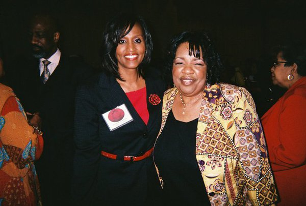 Lady Junn and TV News Anchor Donna Lowery