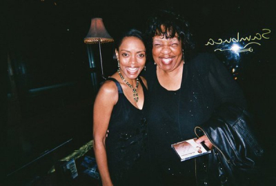 Lady Junn with good friend, that remarkable actress and singer, Maria Howell, best known for her work in The Color Purple