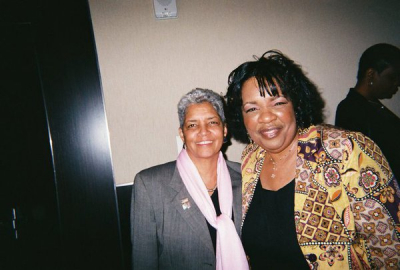 Lady Junn with Atlanta Mayor Shirley Franklin